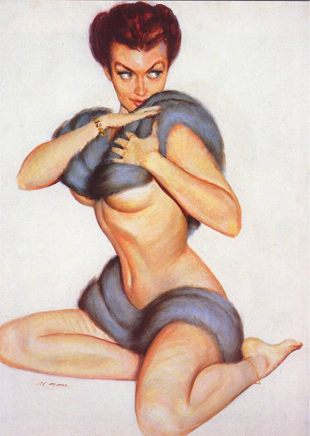 Doctor Ojiplático. Al Moore. Pin-Up Girls. illustration