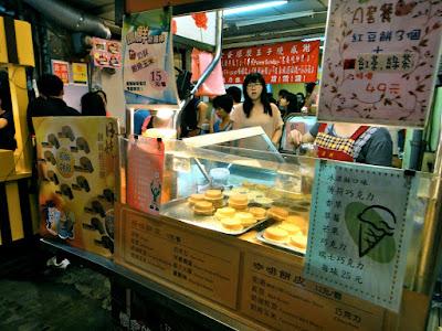 Raohe Night Market Pancake Stall Taipei Taiwan