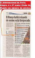 JORNAL ESPANHOL COLOCA INTERNACIONAL EM 6º MAIOR CLUBE DO MUNDO EM GRANDEZA E SÓCIOS