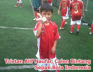 Tristan Alif Naufal Bintang Sepak Bola
