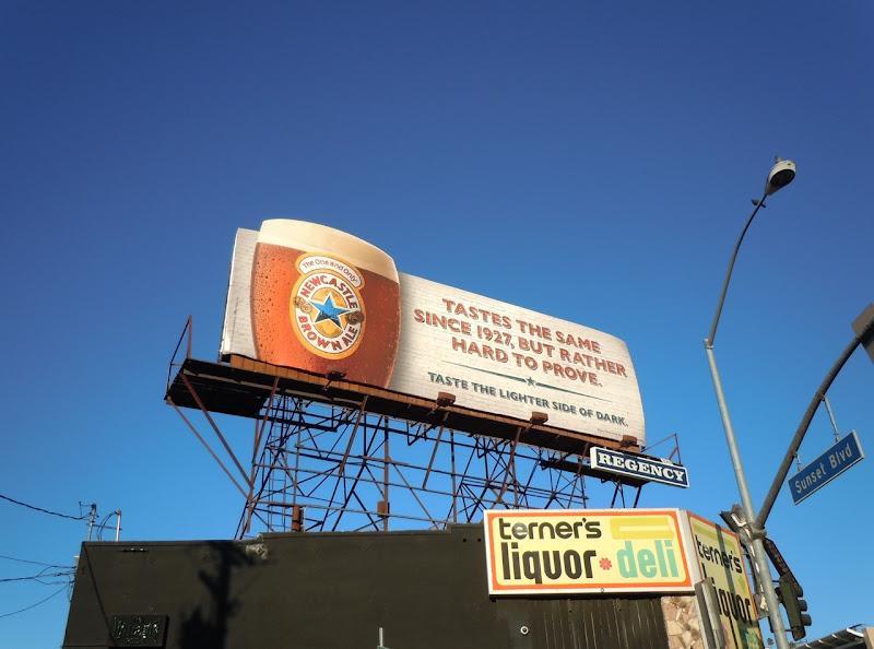 Newcastle Brown same taste billboard