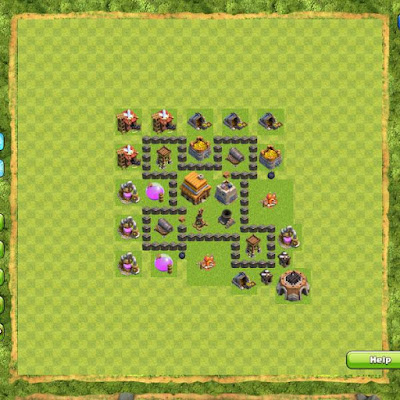 Formasi Base Terbaik Clash of Clans | Andromin