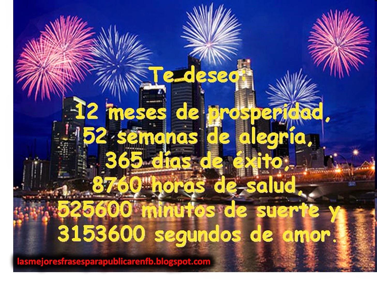 Frases De Año Nuevo: Te Deseo 12 Meses De Prosperidad