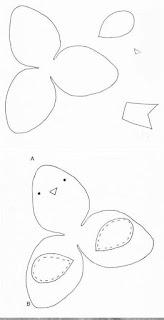 cara membuat pola flanel bentuk burung yang imut