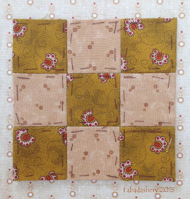 Dear Jane Quilt - Block M10  Simple Simon