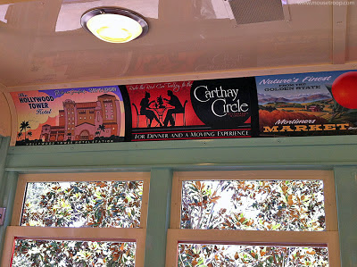 Red Car Trolley Disney California Adventure DCA Vista Ads