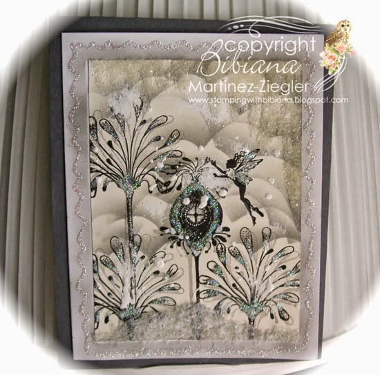 lavinia snow winter scene front card
