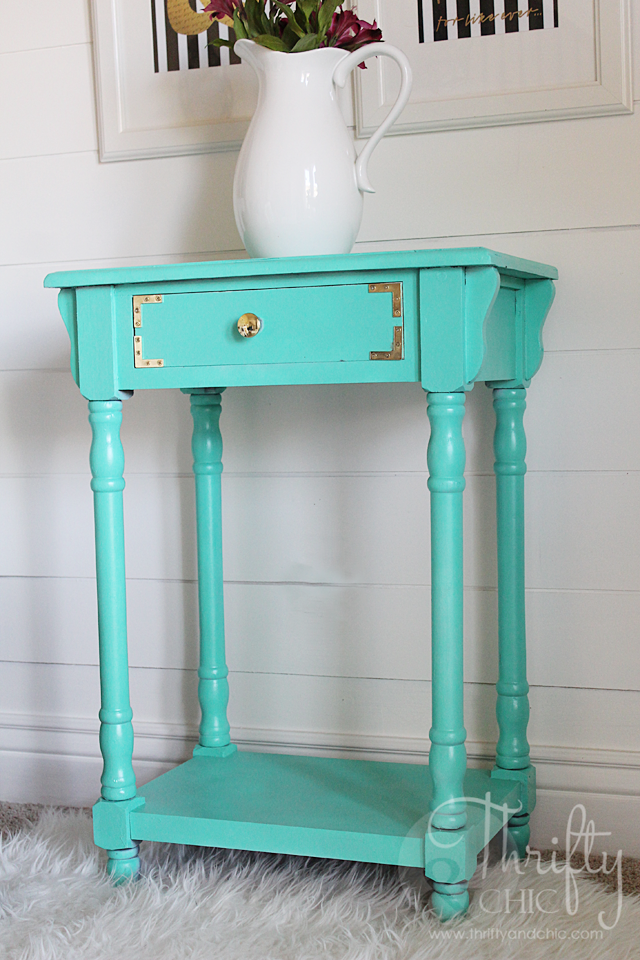 Furniture painting idea -add corner brackets for cute details