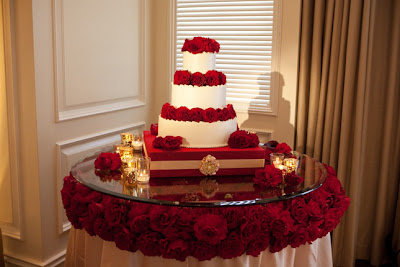 How to decorate a wedding cake table decoration ideas wedding red and white wedding cake table decoration ideas junglespirit Choice Image