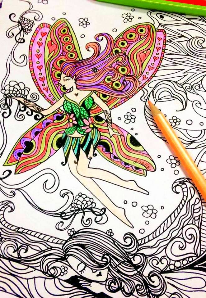 coloring book for adult - Fairy Coloring Book For Adults