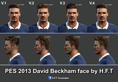 PES 2013 D.Beckham face by H.F.T