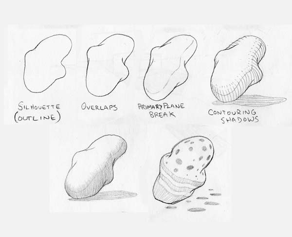 Line Drawings Of D Shapes : Sketch pattern and style