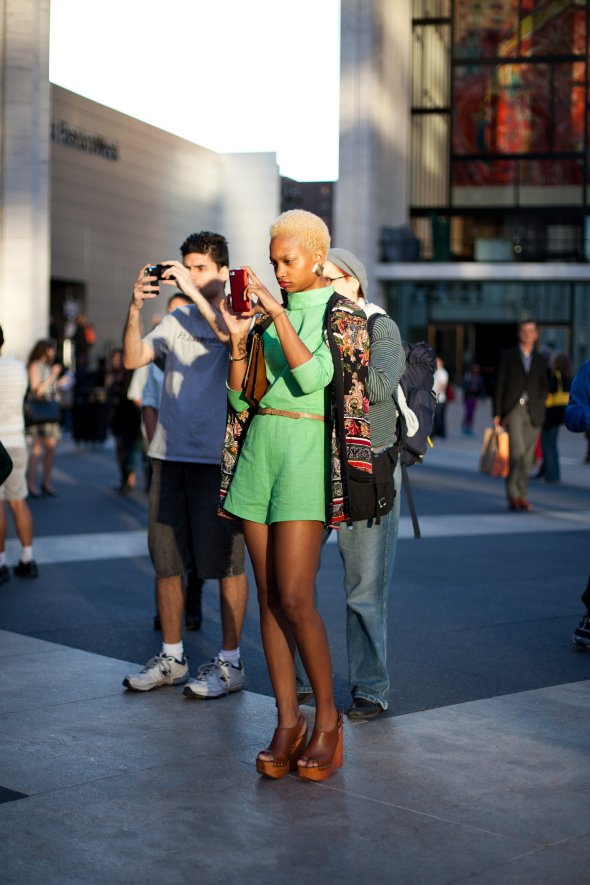 New York Fashion week September 2012 - spring collection, Ni'am Ford, The Sartorialist Closer book female cover girl, street style, Lincoln Center, New York Street Style,