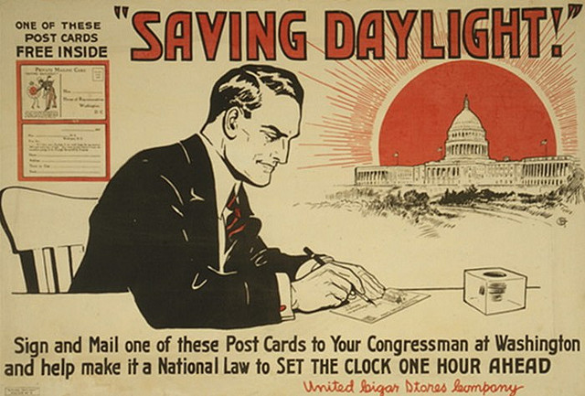 Daylight Savings postcard