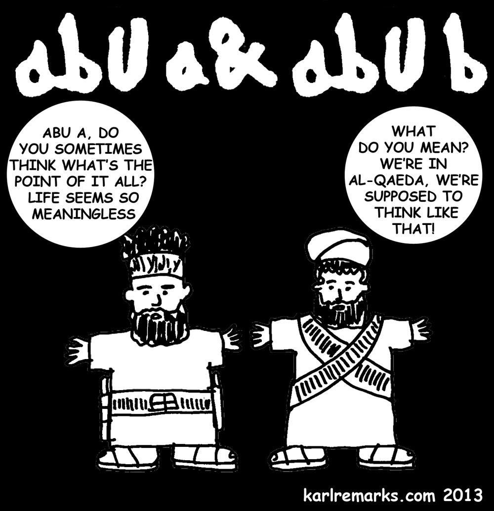 Abu A and Abu B: The al-Qaeda Qartoons