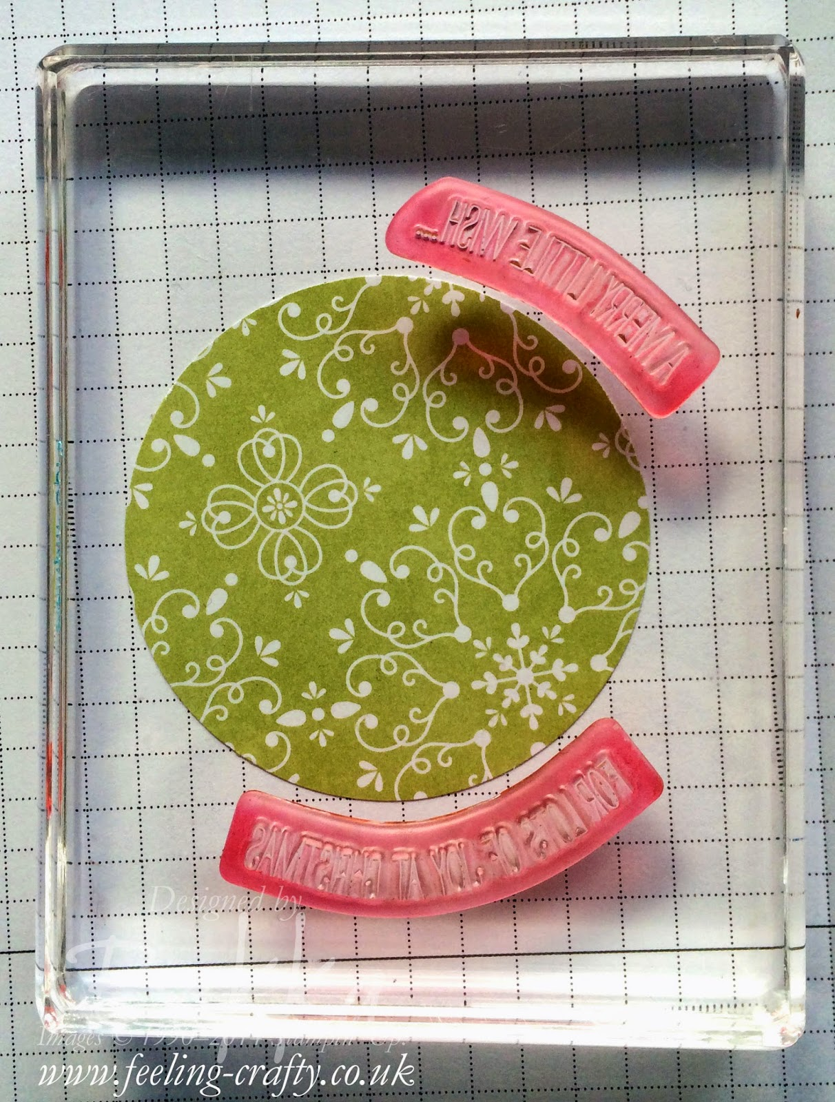Bekka shows you How To Create Shaped Greetings With Your Photopolymer Stamps