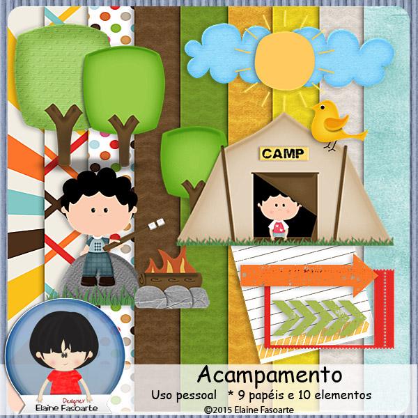 ElaineFasoarte Kit Acampamento