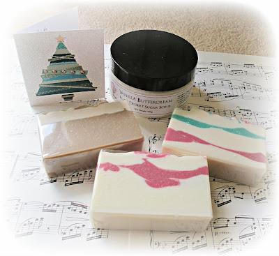 image inner earth soaps candy cane vanilla sugar scrub
