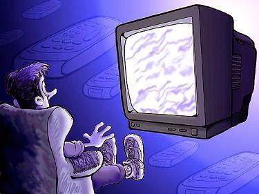 akibat nonton tv terlalu lama