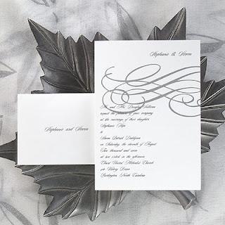 Modelo de convite simples para o casamento