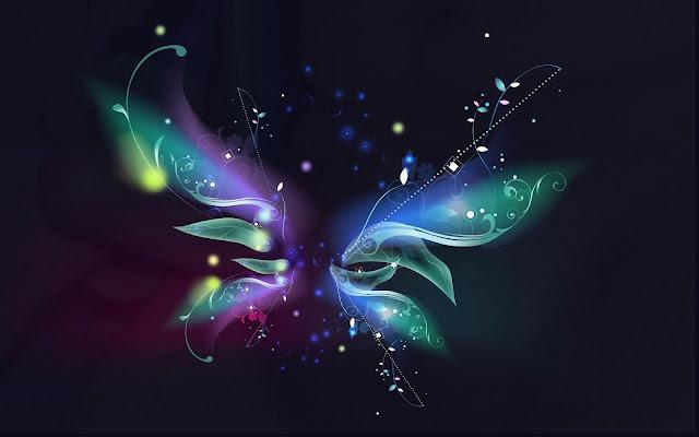 Wallpapers Abstractos Mariposa de Colores Brillantes