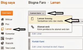 Membuat Laman Static Blogger