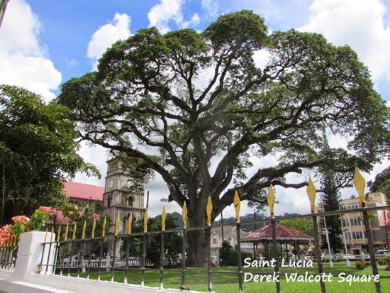 Derek Walcott Square in Castries, St. Lucia