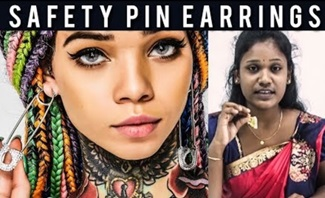 Safety Pin Earrings | Kalaigal Pesattum | IBC Tamil Tv