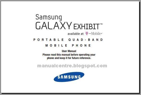 Samsung Galaxy Exhibit T599 Manual Cover