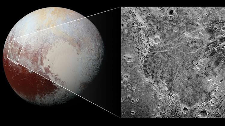"""La NASA encuentra una enorme """"mordedura"""" en Plutón"""