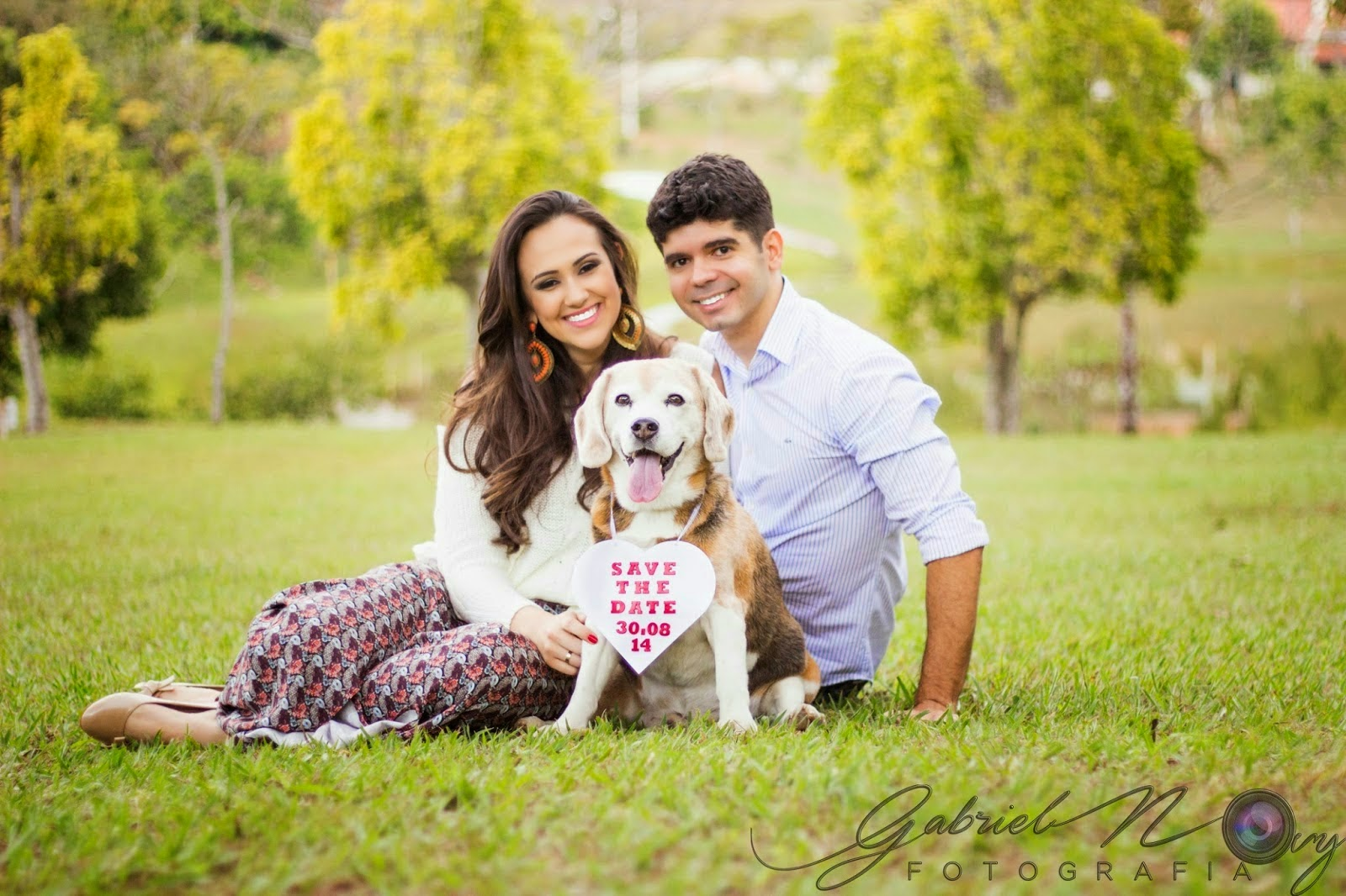 Engagement session com cachorro Mariana e Paulo