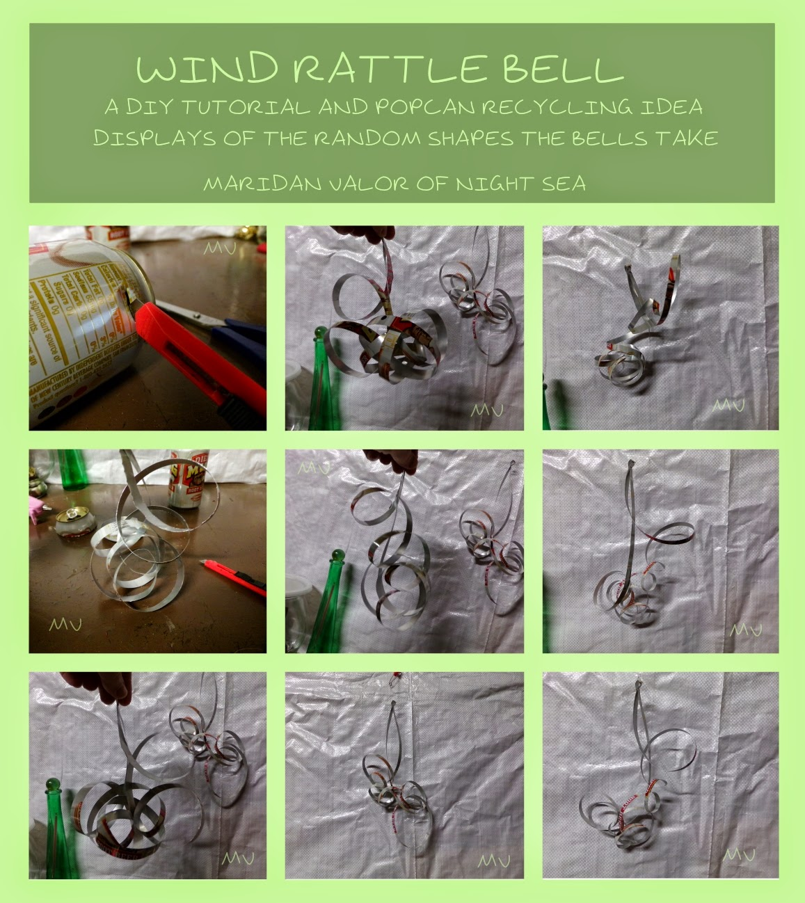 Wind Rattle Bell DIY recycled craft. Get full instructions on http://nightsea90.blogspot.com/