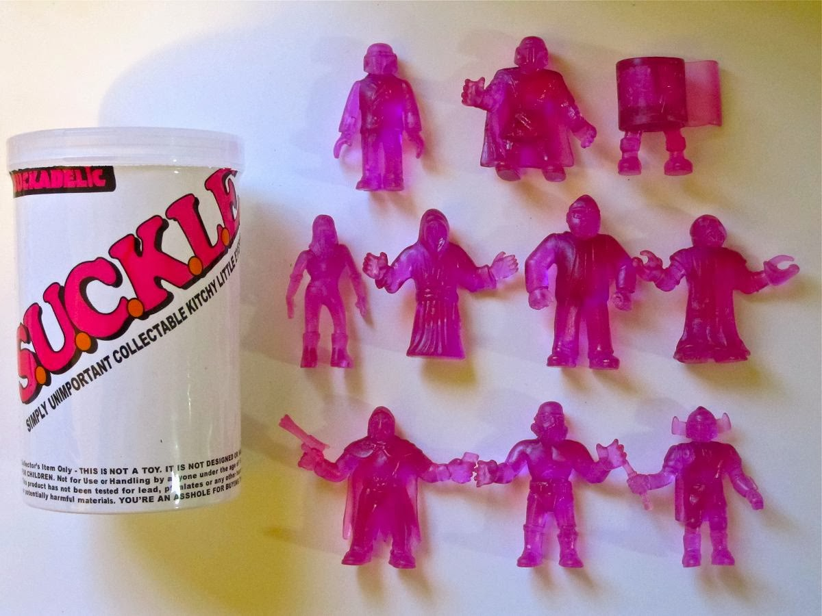 Galactic Jerkbags Exclusive Clear Purple S.U.C.K.L.E. Series 1 Mini Figures by The Super Sucklord