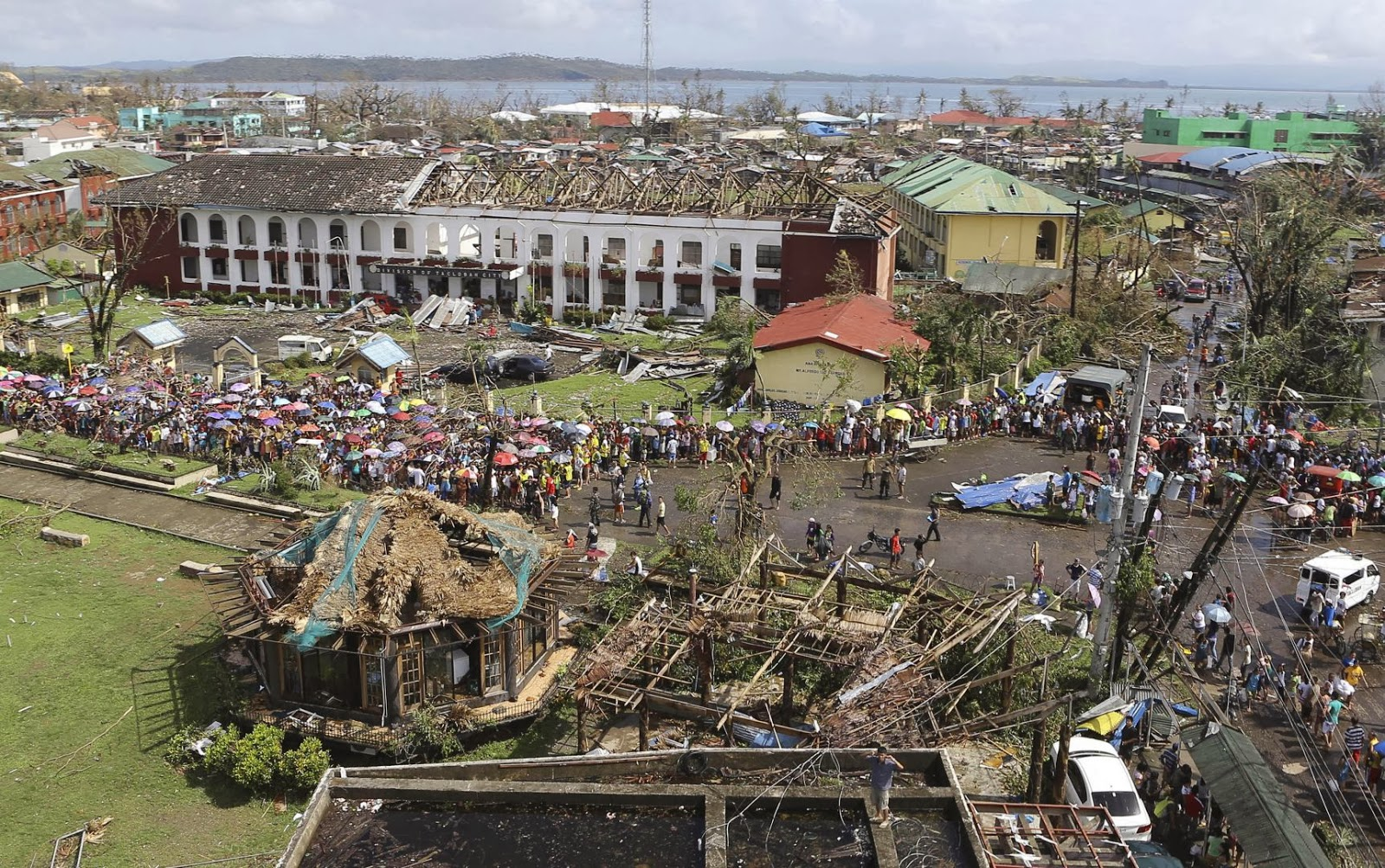 Typhoon-devastated city of Tacloban in the Philippines