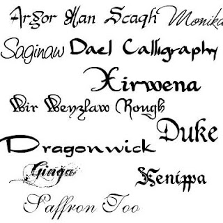 Calligraphy fonts pack