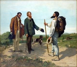 Art Talk - foredrag om kunst. Gustave Courbet: Mødet eller Bonjour Monsieur Courbet, 1854