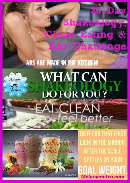 30 Day Shakeology, Clean Eating and Abs Challenge, Join Now.