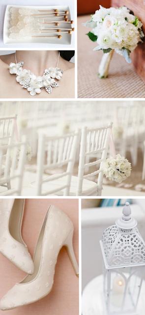 White Wedding Inspiration Board