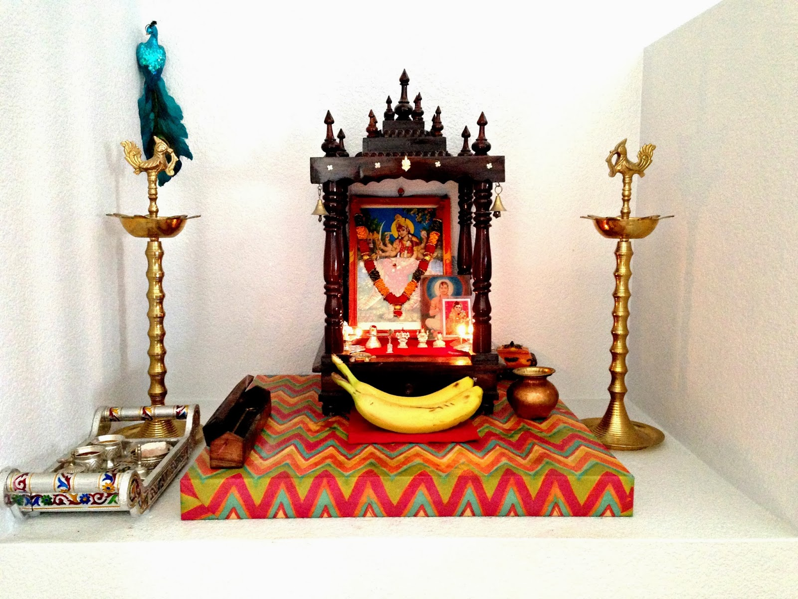 Mandir Designs In Living Room Weekend Tweaks My Pooja Space In Our Home