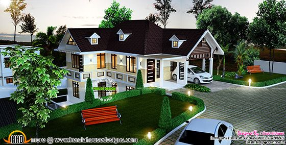 Beautiful hillside home plan