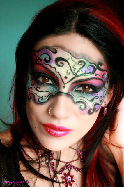 Make Up Artist Me Masked Beauty Masquerade Costume