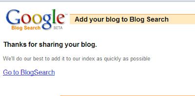 Cara Ping Blog ke Google