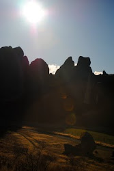 Sun over Castle Hills