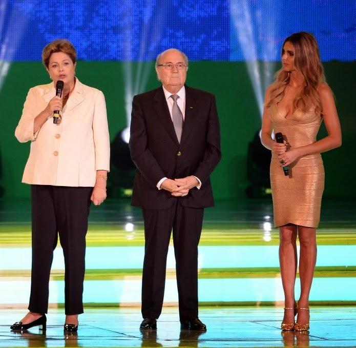 Dilma Rousseff, Sepp Blatter & Fernanda Lima.