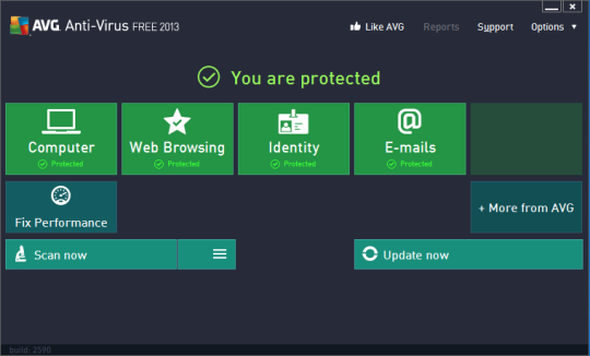 AVG Anti-Virus Free Edition PC Software