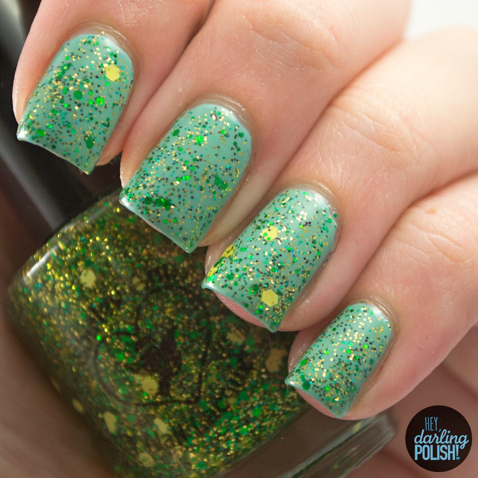 nails, nail polish, polish, indie, indie polish, indie nail polish, hey darling polish, shirley ann nail lacquer, expert marksmen, green