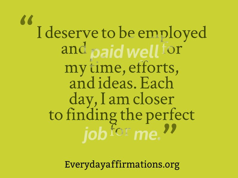 Affirmations for Employees, Daily Affirmations 2014