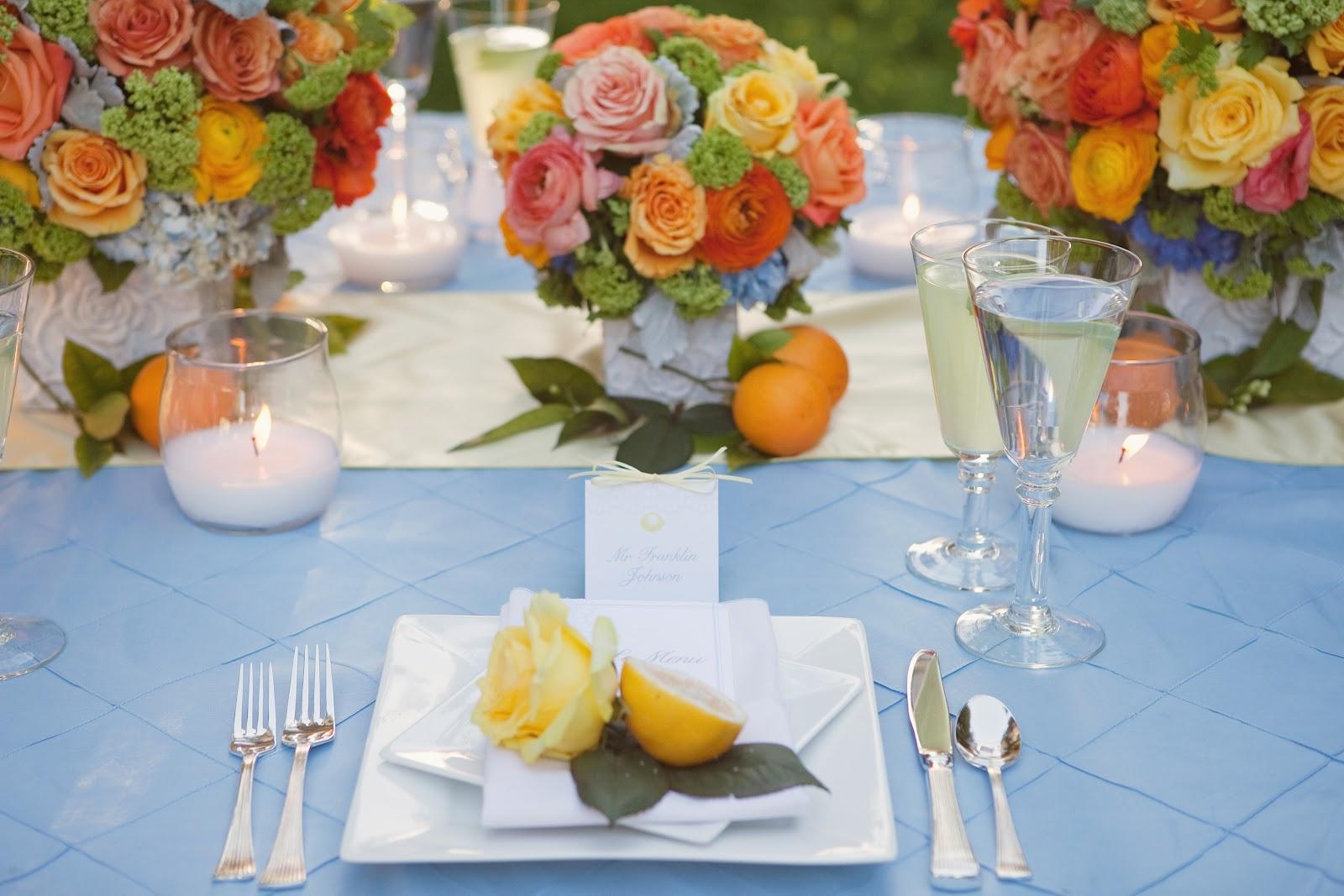 Orchard Wedding - Citrus Wedding Colors | Heavenly Blooms