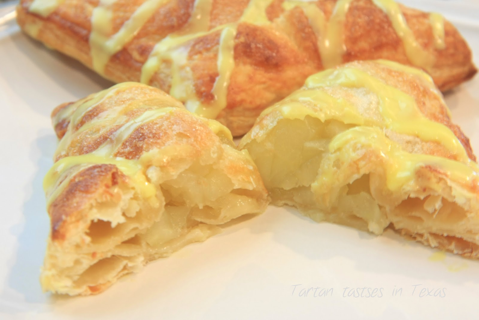 ... in Texas: Scottish Recipes - Apple Turnover with Lemon Drizzle Iicing