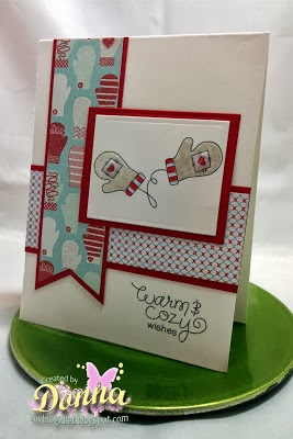 Mitten card by Donna for Newton's Nook Designs Inky Paws Challenge #5